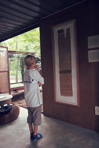 Julius von Hausswolff looking at his great grandmother's work!!!